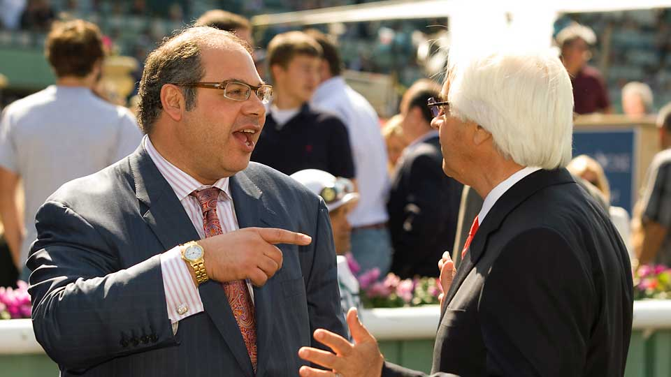 Justin Zayat is the racing manager for Zayat Stables, which was founded in 2005 by his father, entrepreneur Ahmed Zayat (left, talking to trainer Bob Baffert).