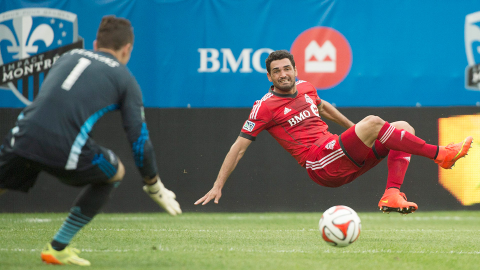 Gilberto scored 11 minutes into the match to put Toronto FC on its way to its first win in five contests.