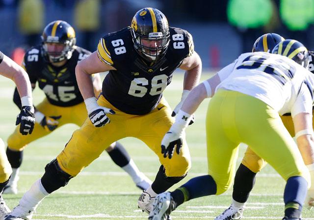 Iowa's Brandon Schereff is a potential No. 1 pick in the 2015 NFL Draft.