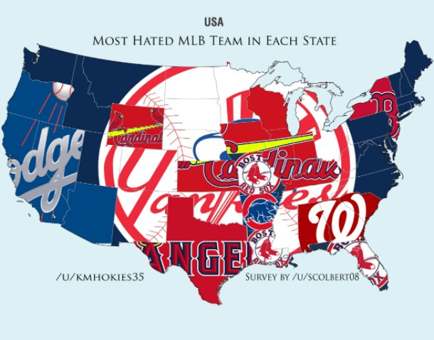 Map shows each states most hated MLB team SIcom