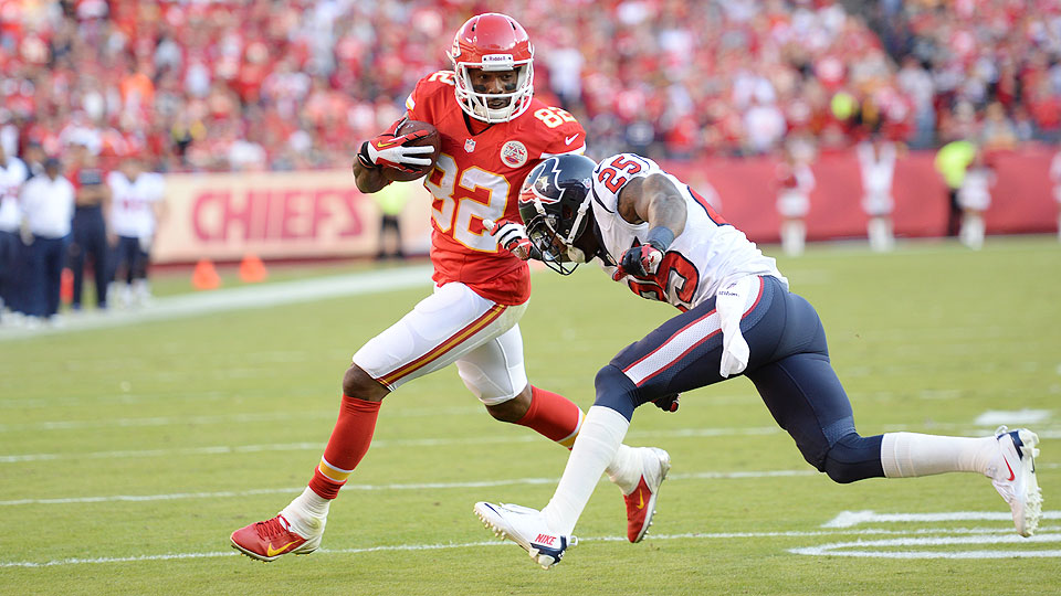 Chiefs wide receiver Dwayne Bowe during a 2013 game against Houston
