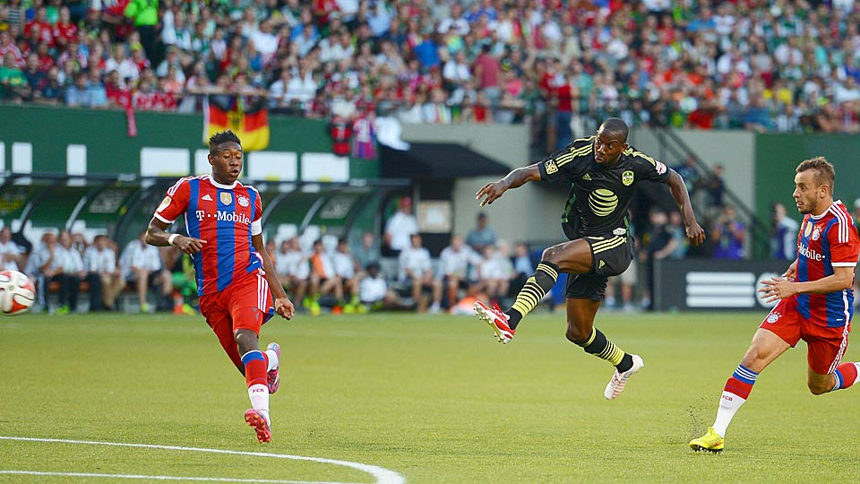 Bradley Wright-Phillips unleashed a rocket of a goal vs. Bayern Munich on Wednesday night at the MLS All-Star Game.