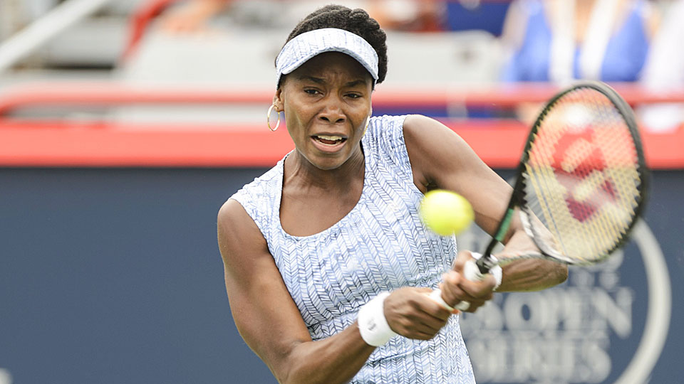 Venus Williams survived a difficult second set to defeat Anastasia Pavlyuchenkova in the opening round of the Rogers Cup on Tuesday.