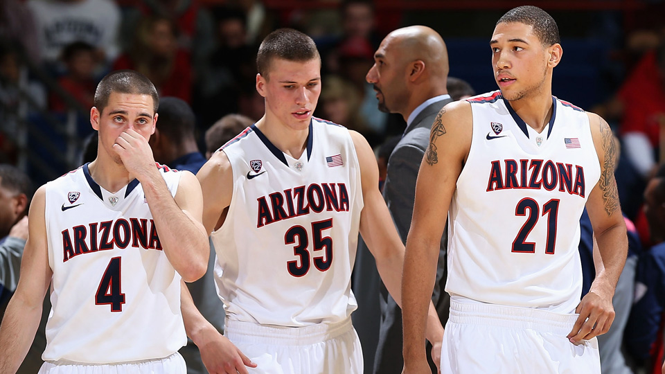 T.J. McConnell, Kaleb Tarczewski and Brandon Ashley (left to right) are among the best in a deep group of returning starters for the Wildcats.