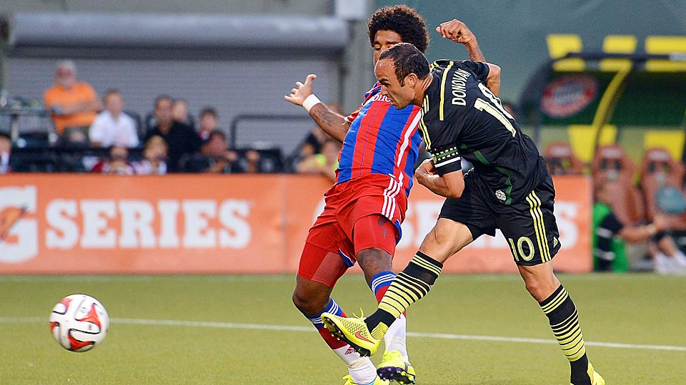 Landon Donovan's second-half goal capped a comeback win for the MLS All Stars vs. Bayern Munich.