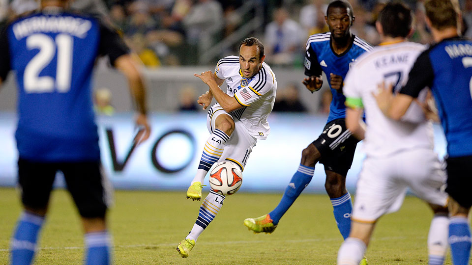 Landon Donovan began his farewell tour with a solid performance in the LA Galaxy's 2-2 draw with the San Jose Earthquakes on Friday night.