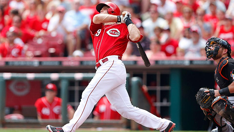 Reds catcher Devin Mesoraco finally got his opportunity and he's making the most of it, chasing elite company.
