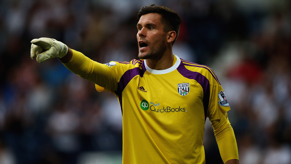 Veteran English goalkeeper Ben Foster anchors the back for West Brom.