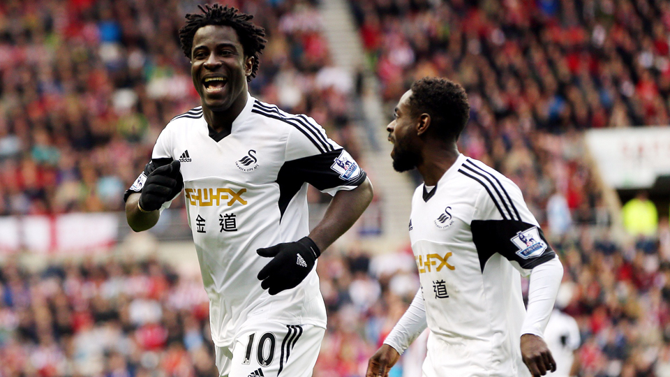 Swansea City hopes there's plenty more goal celebrations to come from Ivory Coast international Wilfried Bony.