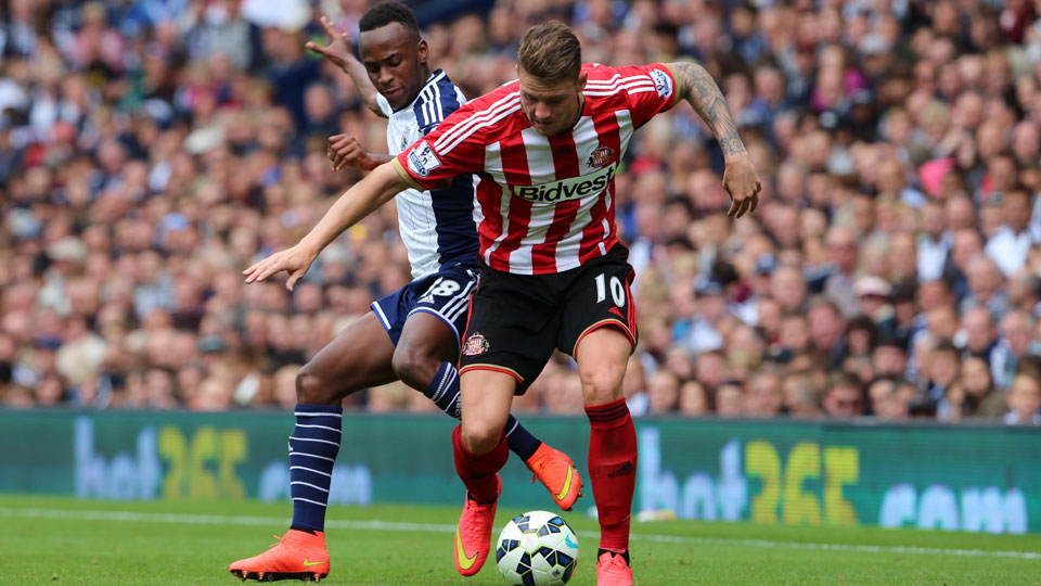 Saido Berahino (left) scored two goals in West Brom's season-opening 2-2 draw with Sunderland at The Hawthorns.