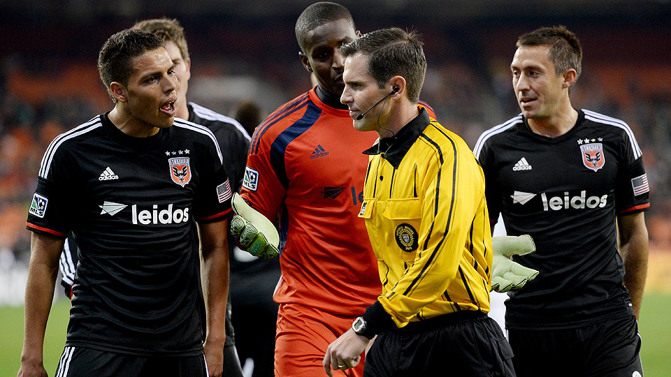 Luis Silva (left), shown here against the Crew on March 8, scored two goals to help D.C. United defeat the Colorado Rapids.