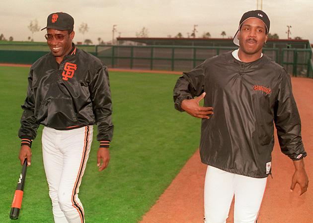 Even Barry's father Bobby Bonds (left) couldn't always explain his son's behavior.