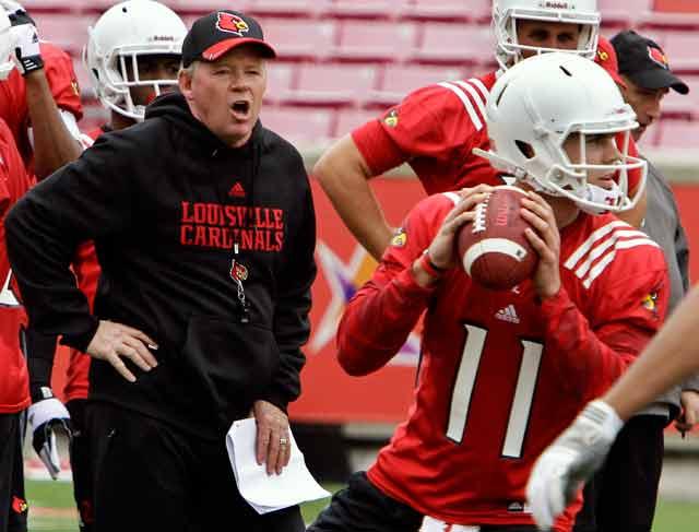 Louisville coach Bobby Petrino