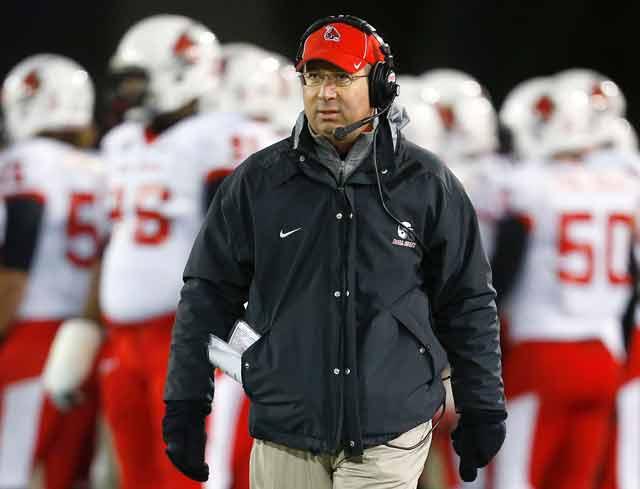 Ball State coach Pete Lembo