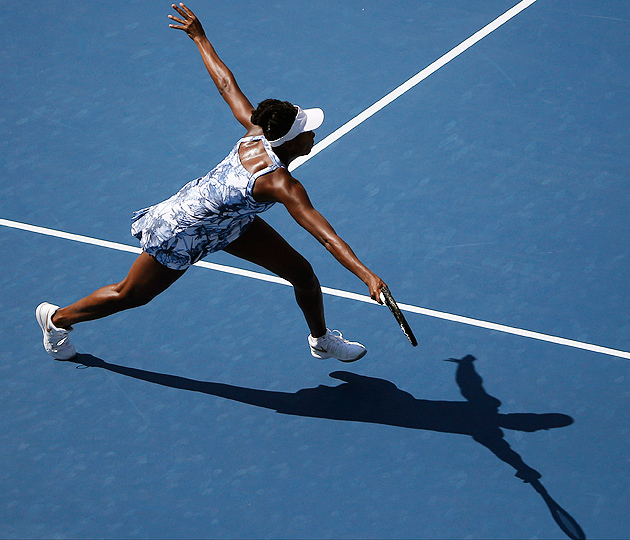 Venus Williams improved her head-to-head record against Kimiko Date-Krumm to 4-0.