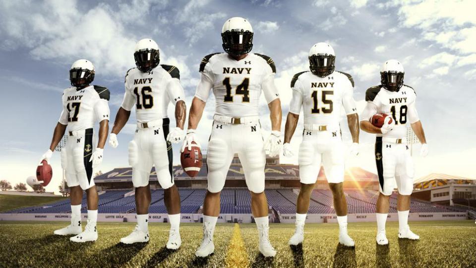 Navy Midshipmen Release All White Uniforms For Season Opener Vs Ohio State Buckeyes Si Com