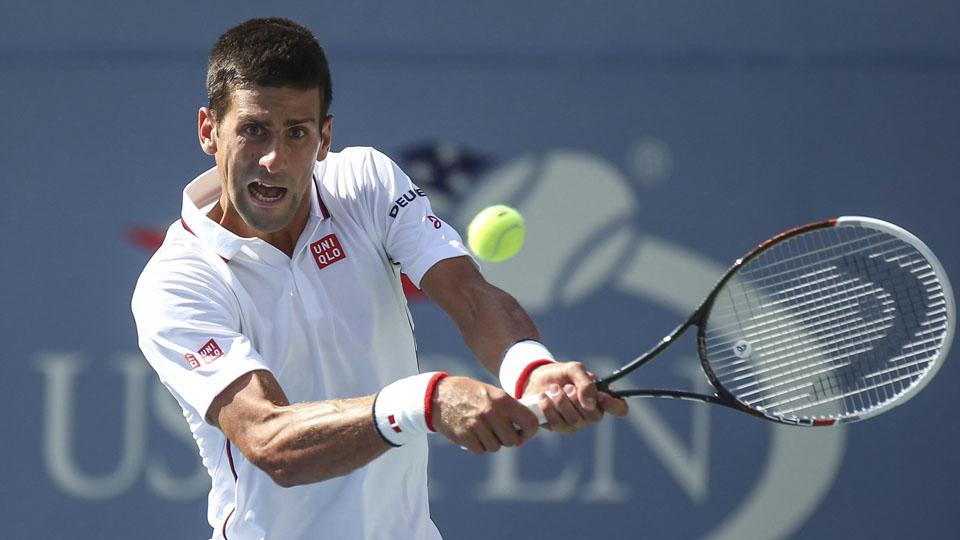 Novak Djokovic plays Sam Querrey during Day 6 of the 2014 U.S. Open.