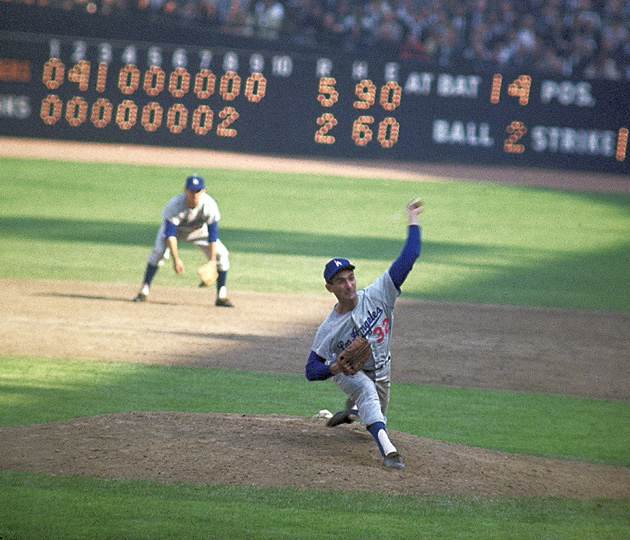Sandy Koufax won World Series MVP honors in the Dodgers' 1963 victory over the Yankees.