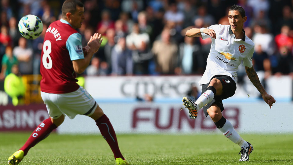 Angel di Maria made his debut for Manchester United but he couldn't help his new team get its first win of the season against Burnley.