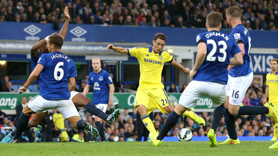Nemanja Matic scored Chelsea's fourth goal in a thrilling, back-and-forth contest against Everton on Saturday.