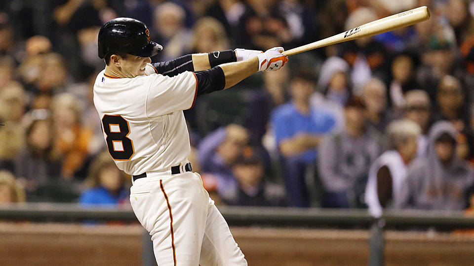 San Francisco Giants catcher Buster Posey has been on a tear recently, belting five home runs and 13 RBI in his last 10 games. Expect that production to continue.