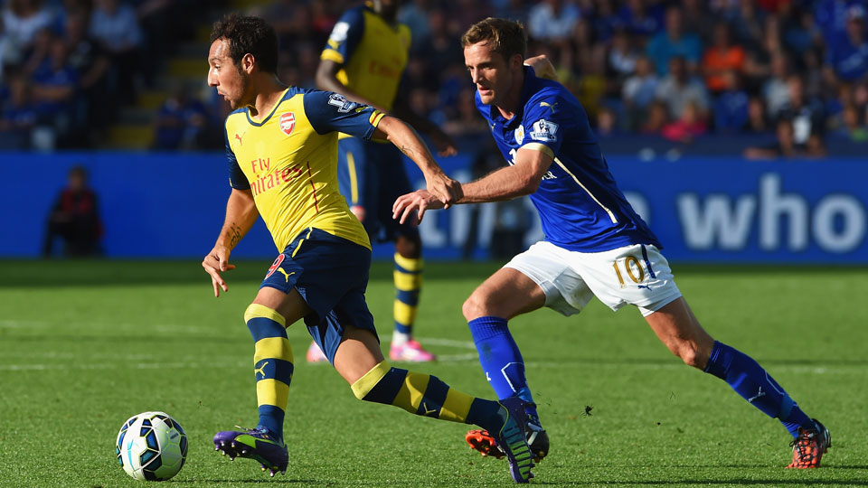 Santi Cazorla couldn't help Arsenal find a winning goal in a 1-1 draw with Premier League newcomers Leicester City.