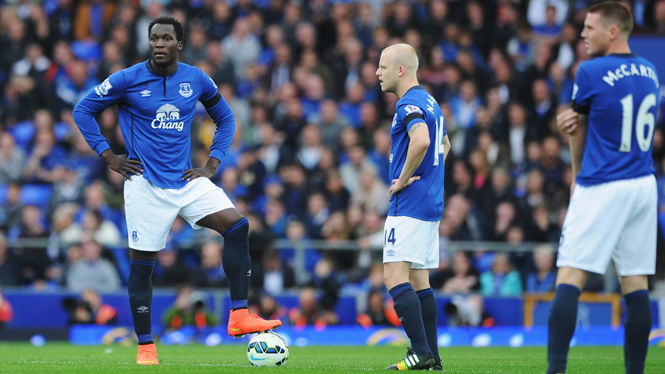 From left, Everton's Romelu Lukaku, Steven Naismith and James McCarthy have endured a frustrating beginning to the 2014-15 EPL campaign.
