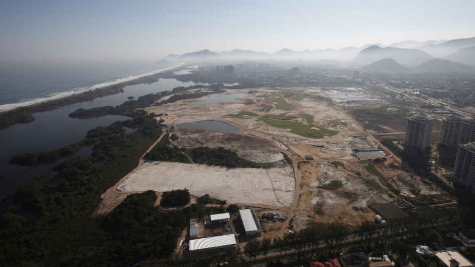 The Rio Olympic golf course, as of August 2014.