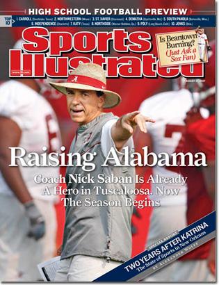 Nick Saban Alabama cover