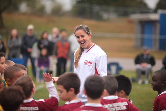 Former U.S. women's national team star Brandi Chastain has taken an active role in trying to prevent concussions and head injuries among youth players.