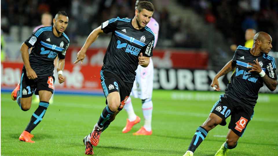 Andre-Pierre Gignac scored as Marseille topped Evian to continue its perfect start in Ligue 1.