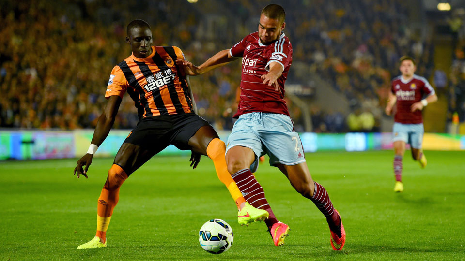 Hull striker Mohamed Diame scored on his former club (West Ham United) in his debut with Hull on Monday.