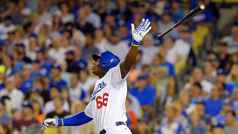 Yasiel Puig and the Los Angeles Dodgers clinched the NL West on Wednesday night with a 9-1 win over the San Francisco Giants.