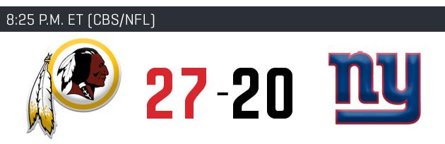 Week 4 NFL picks: Predictions for Washington Redskins, New York Giants matchup