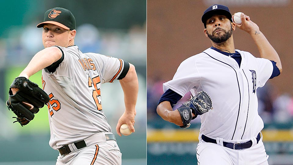 The Orioles' Bud Norris (left) will try and defeat the Tigers' David Price and send the Orioles to the ALCS for the first time since 1997.
