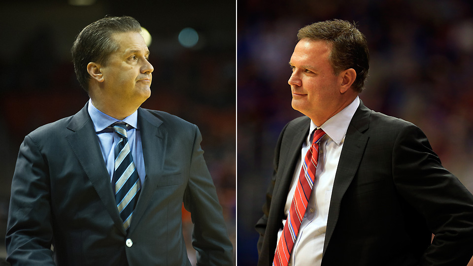 John Calipari (left) and Bill Self will face off in one of the early season's best games.
