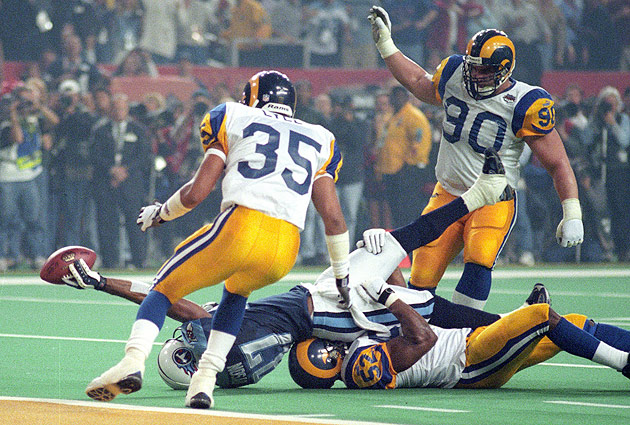 Fisher's Titans came up a yard short in Super Bowl XXXIV. The coach hasn't been back to the big game since.