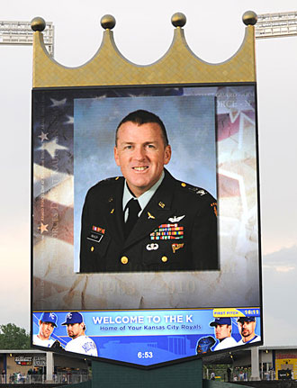 The Royals honored Col. John McHugh a few weeks after he was killed in Afghanistan in 2010.