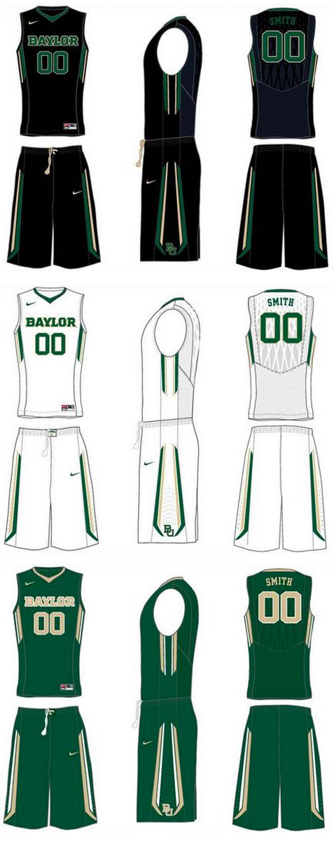 Baylor new basketball uniforms Nike