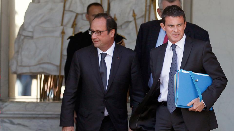 French President Francois Hollande and French Prime Minister Manuel Valls
