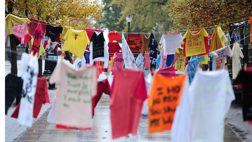 The Clothesline Project at Washington State University focuses on sexual violence and other crimes.