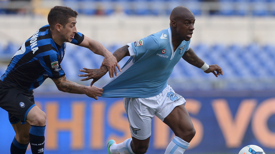 Gael Kakuta on loan at Lazio last season.