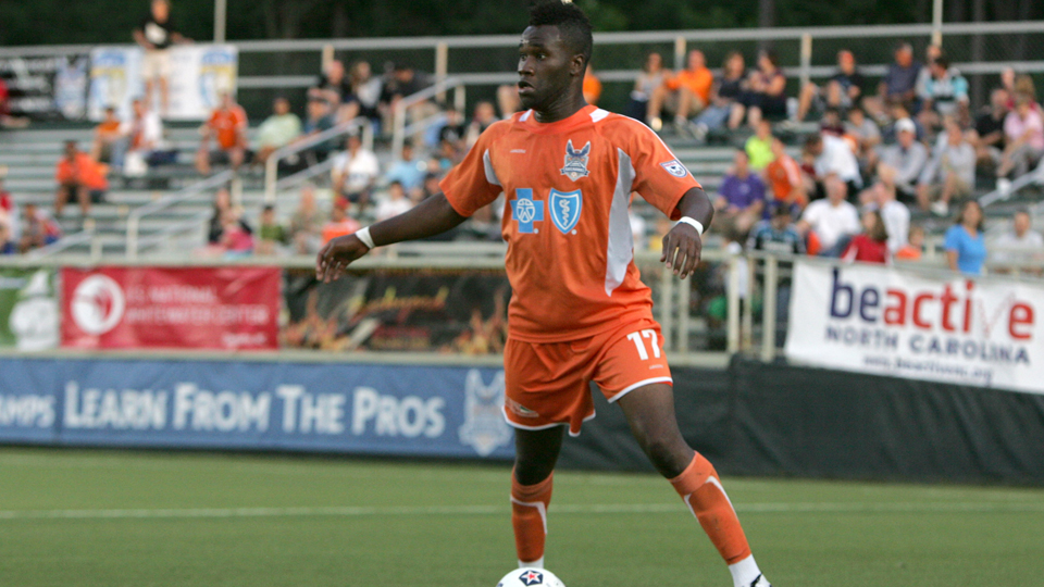 Gale Agbossoumonde, pictured above playing for the NASL's Carolina Railhawks in 2012, is an example of an American player whose rights were owned by a third party.