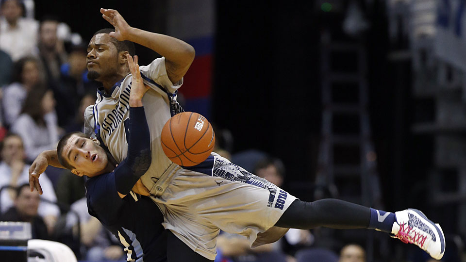 The Wildcats' Ryan Arcidiacono and the Hoyas' D'Vauntes Smith-Rivera will collide twice this season in games that could settle the conference title.