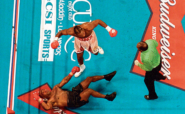 Lewis' superiority was on display throughout his fight with Tyson, which ended with en eighth-round knockout.