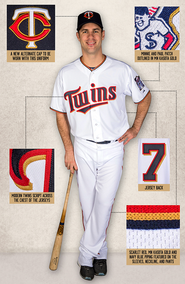 New uniforms Twins gold