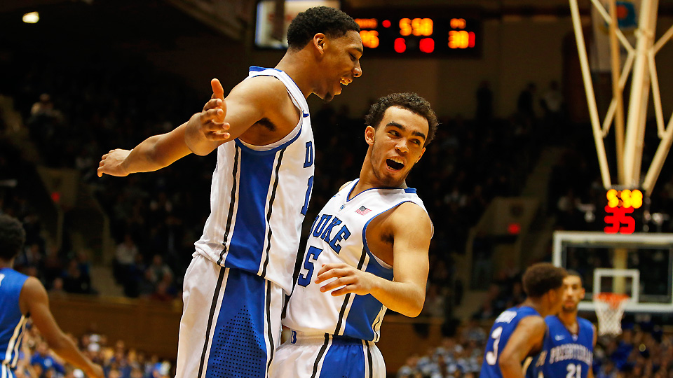 Jahlil Okafor and Tyus Jones were excellent in Duke's opening game against Presbyterian.