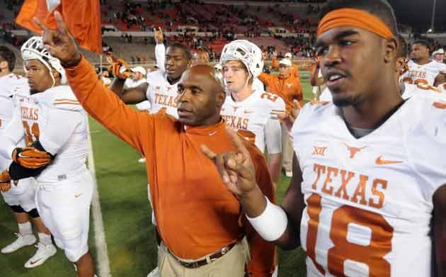 Texas coach Charlie Strong
