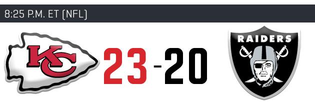 Week 12 NFL picks, predictions: Oakland Raiders vs. Kansas City Chiefs
