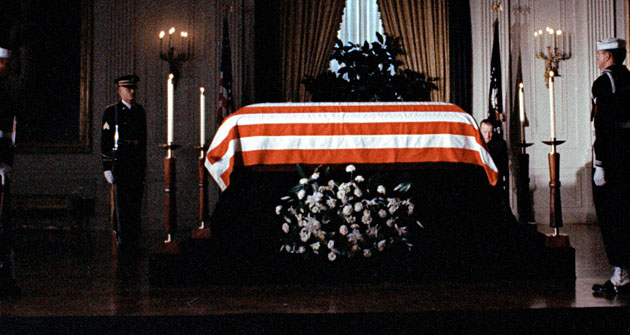 John F. Kennedy coffin